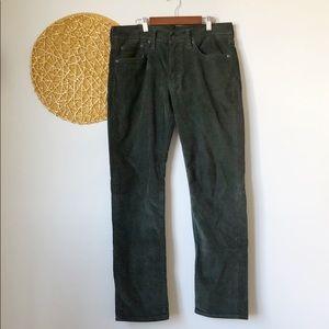 Levi's 511 I Dark Green Corduroy Pants